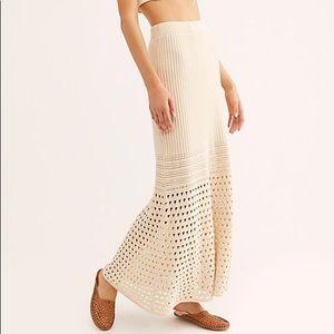 NWT Free People summer boho maxi skirt